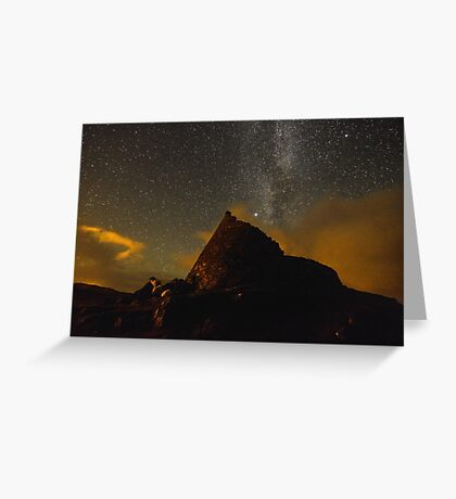 Doune Broch and Milky way  Greeting Card