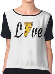 Pizza Love (black)  Chiffon Top