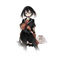 kurome eating her snacks ! Photographic Print