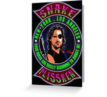 Snake Plissken Colour 2 Greeting Card