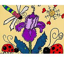 Purple Iris In Mo's Garden Photographic Print