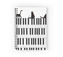 Piano Cats Spiral Notebook