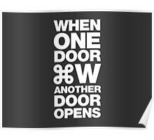 When one door closes another door opens Poster