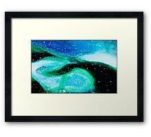 Underwater Aqua Nebula Framed Print