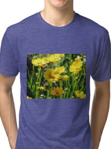 YELLOW FLOWERS Tri-blend T-Shirt