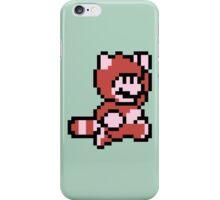 Pixel raccoon Mario iPhone Case/Skin