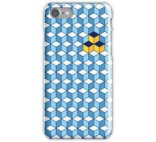 Blue & Orange Tiling Cubes iPhone Case/Skin