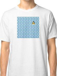 Blue & Orange Tiling Cubes Classic T-Shirt