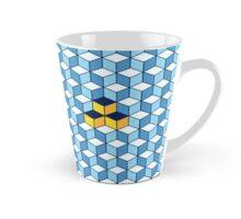 Blue & Orange Tiling Cubes Mug