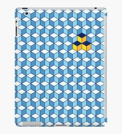 Blue & Orange Tiling Cubes iPad Case/Skin