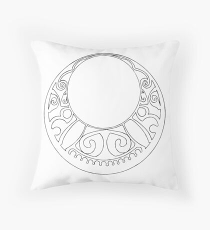 Rosace (Two) Throw Pillow