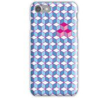 Blue & Pink Tiling Cubes iPhone Case/Skin