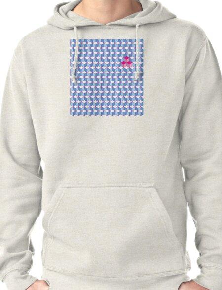 Blue & Pink Tiling Cubes T-Shirt