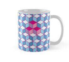 Blue & Pink Tiling Cubes Mug