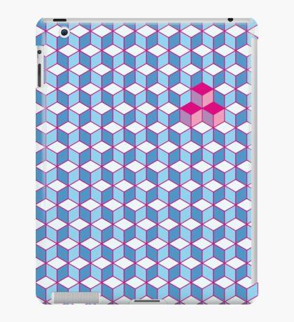Blue & Pink Tiling Cubes iPad Case/Skin