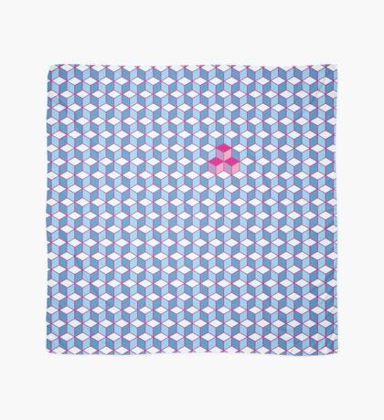 Blue & Pink Tiling Cubes Scarf