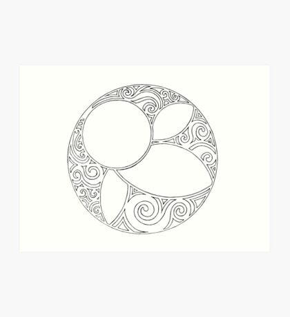 Rosace (Three) Art Print