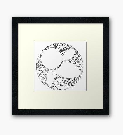 Rosace (Three) Framed Print