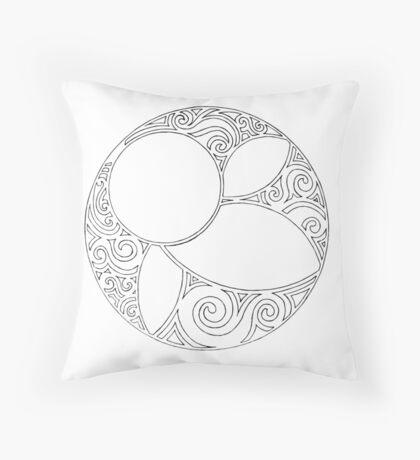 Rosace (Three) Throw Pillow