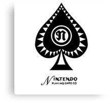 Nintendo Playing Card Company Logo Canvas Print