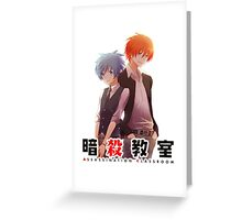 back to back AC anime Greeting Card
