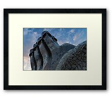 Whimsical Chimneys - Antoni Gaudi Trencadis Mosaics Echo the Colors of the Sky Framed Print