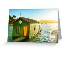 Boathouse Sunrise Greeting Card
