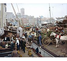 Banana docks, New York, ca. 1890-1910. Photographic Print
