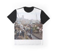 Banana docks, New York, ca. 1890-1910. Graphic T-Shirt