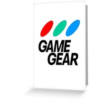 Game Gear Logo Greeting Card