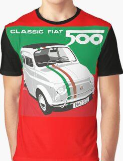 Fiat 500 Italian flag Graphic T-Shirt