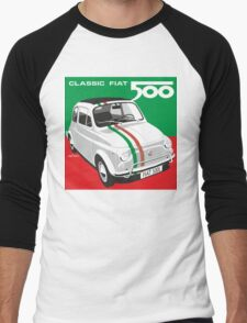 Fiat 500 Italian flag Men's Baseball ¾ T-Shirt