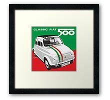 Fiat 500 Italian flag Framed Print