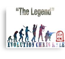 Evolution Chris Kyle Canvas Print