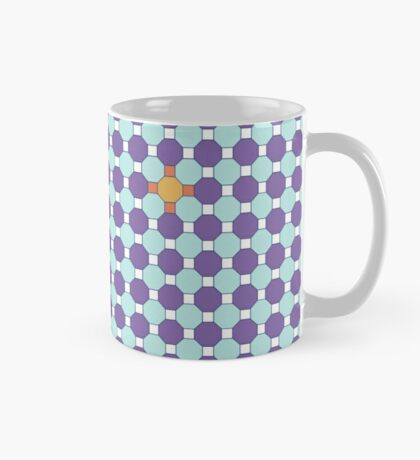 Purple & Orange Tessellation Tiles Mug