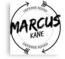 MARCUS KANE DEFENSE SQUAD Canvas Print