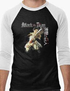 levi in full attack mode Men's Baseball ¾ T-Shirt