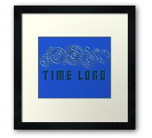 Time Lord  - Doctor Who themed with Gallifrey symbols Shirt Framed Print