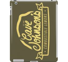 cave johnson's combustible lemons iPad Case/Skin