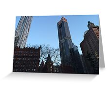 Classic and Modern Architecture, Lower Manhattan, New York City Greeting Card