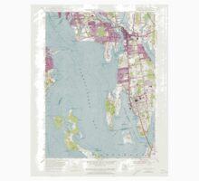 USGS TOPO Map Rhode Island RI Bristol 353249 1955 24000 One Piece - Short Sleeve