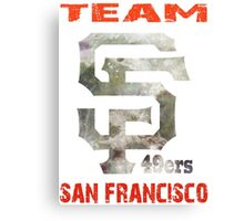 Team SF 49ers Canvas Print