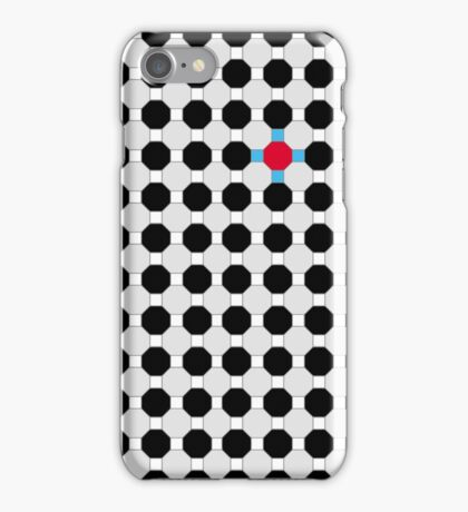Grey & Red Tiling Tessellation iPhone Case/Skin