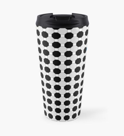 Grey & Red Tiling Tessellation Travel Mug