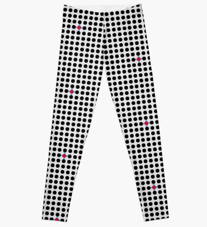 Grey & Red Tiling Tessellation Leggings