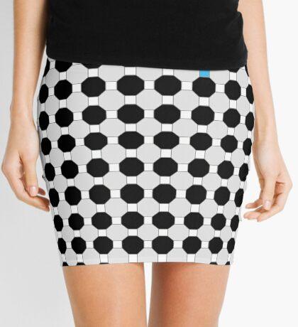 Grey & Red Tiling Tessellation Mini Skirt