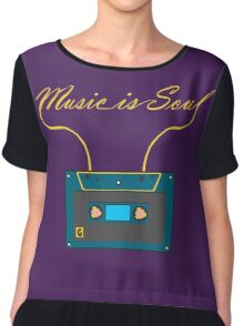 Music is soul Chiffon Top