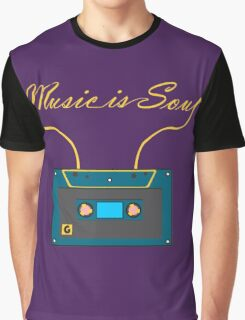 Music is soul Graphic T-Shirt