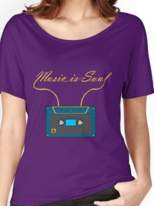 Music is soul Women's Relaxed Fit T-Shirt