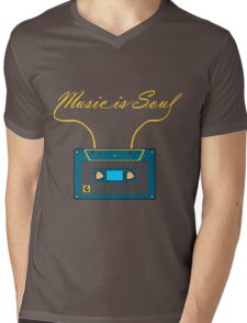 Music is soul Mens V-Neck T-Shirt